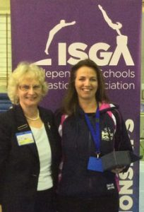 Tracy Tigchelaar, winner of the logo competition receiving her award from June Walden, Chair of I.S.G.A